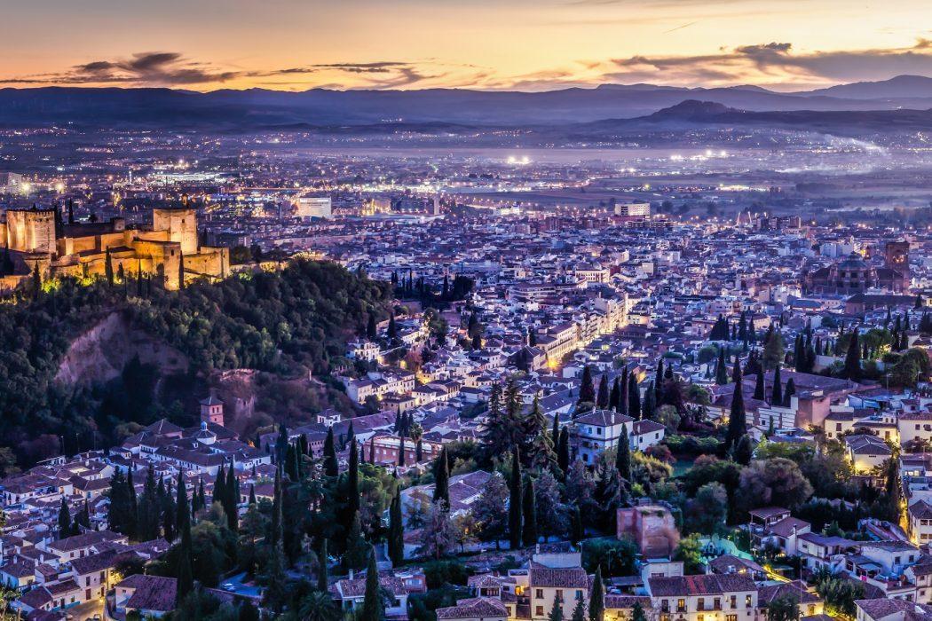 Granada alhambra albaicin nocturno